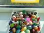 Värvitud munade näitus koridoris